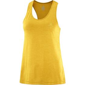 Salomon Agile Tank Women, arrowwood/lemon curry/heather